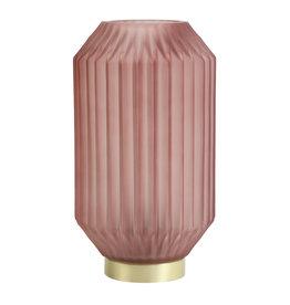 Light&Living Tisch lampe LED IVOT glas matt stein rot 27 cm