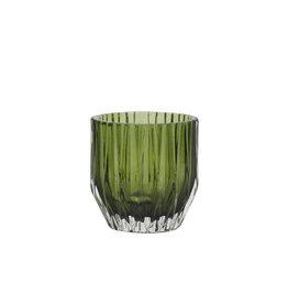 Light&Living Theelicht HARPER glas olijf groen 10,5 cm