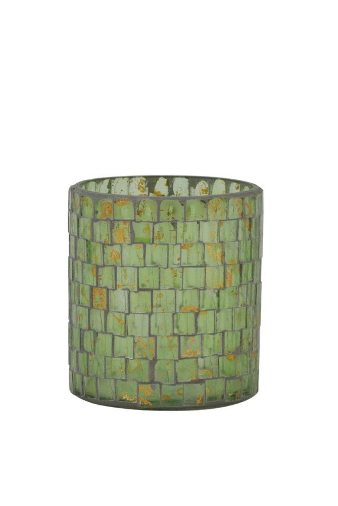 Light&Living Theelicht Ø10x11 cm ALEGRETE mozaïek goud