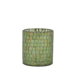Light&Living Theelicht ALEGRETE mozaïek goud 9 cm