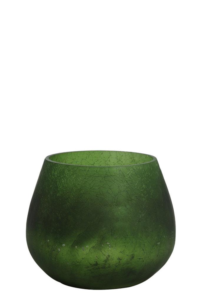 Light&Living Theelicht Ø11x10 cm GIANNI mat groen-zilver