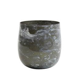 Light&Living Teelicht  AVILA grau weiß 12 cm