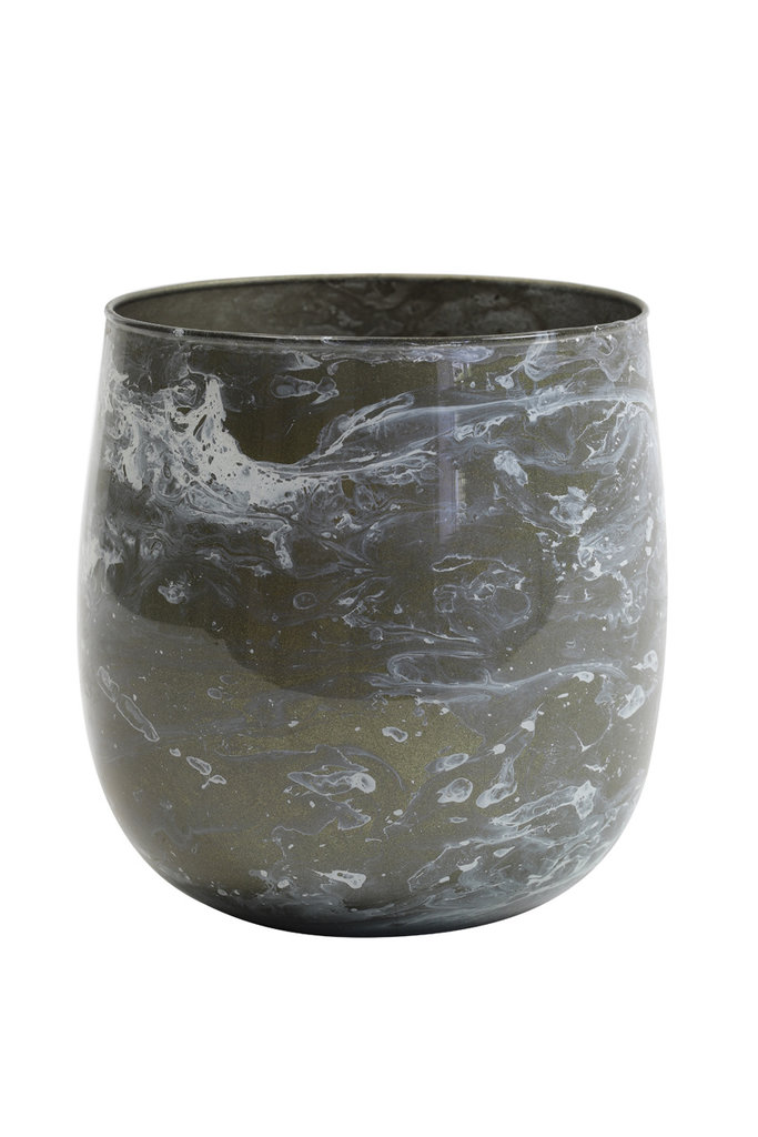 Light&Living Teelicht Ø12x12 cm AVILA grau weiß