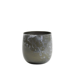 Light&Living Teelicht  AVILA grau marmor weiß 8 cm
