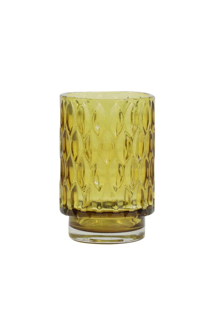 Light&Living Theelicht Ø9x13 cm GRACE glas oranje