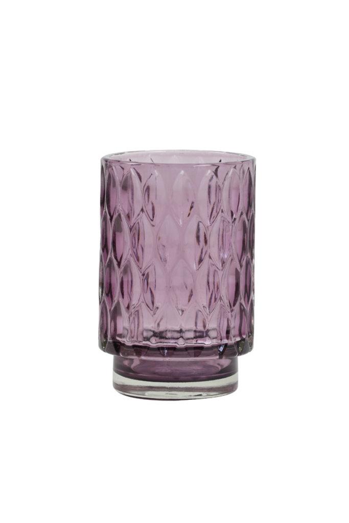 Light&Living Theelicht Ø9x13 cm GRACE glas licht roze