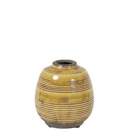 Light&Living Vase  SINABUNG keramik ocker 14 cm