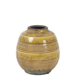 Light&Living Vase SINABUNG  keramik ocker 17,5 cm