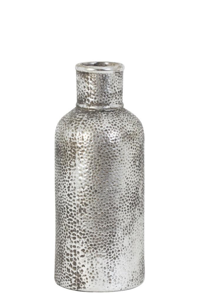 Light&Living Vaas deco Ø14,5x35 cm MORALES zilver