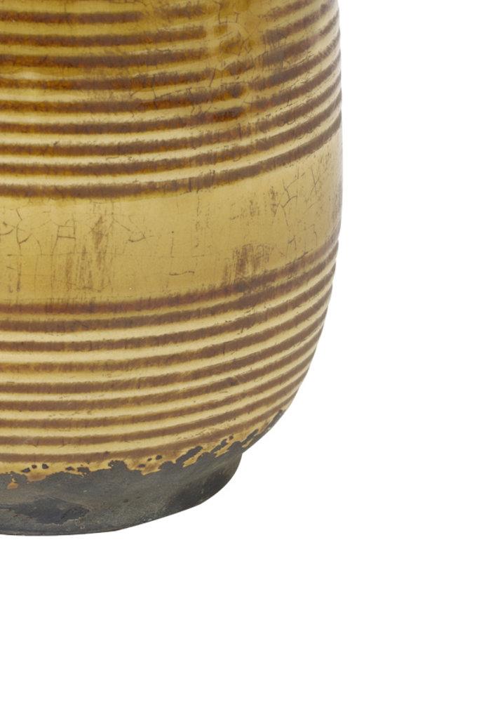 Light&Living Vaas deco Ø15x26,5 cm BATUR keramiek oker
