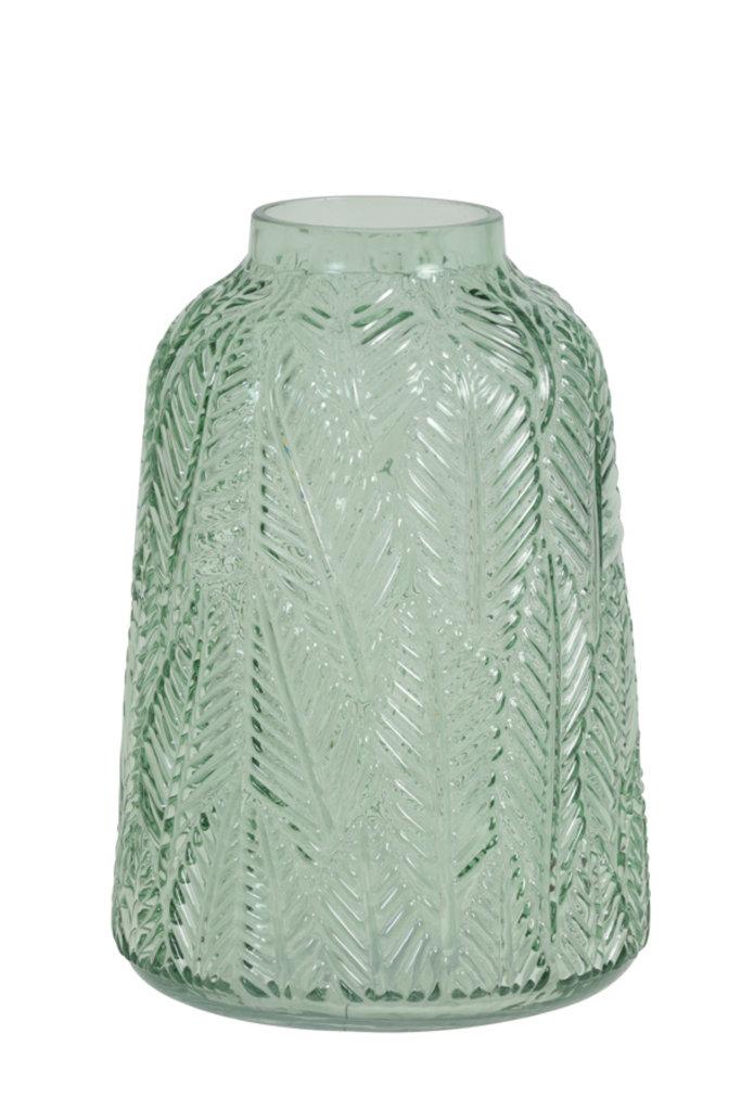 Light&Living Vaas Ø16,5x24 cm AMAZONIA glas helder groen
