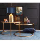 Light&Living Salontafel S/2 Ø65x39+Ø75x44 cm DUARTE glas-goud