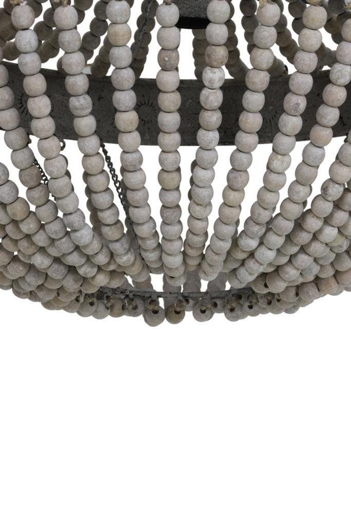Light&Living Hanglamp kralen Ø51x63 cm LUNA oud wit