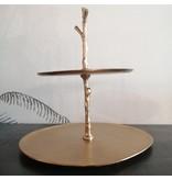 Light&Living Etagere 2 laags 30,5x27,5x31 cm TRESA goud