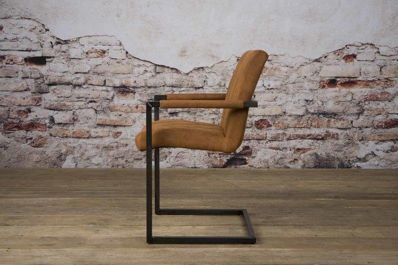 Sidd Lomba armstoel - fabric Houston 215 cognac