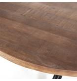 Eleonora Eettafel rond met kruispoot - 150x150