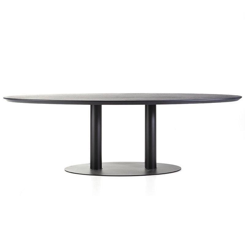 Eleonora Esstisch oval - 240x110 schwarz