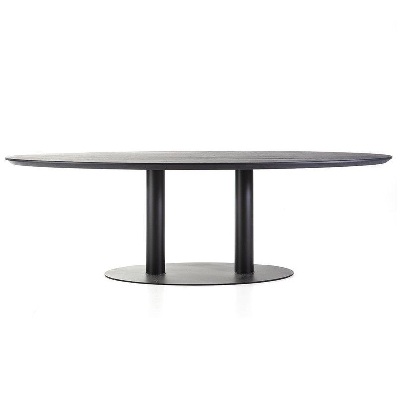 Eleonora Eettafel ovaal - 300x120 zwart