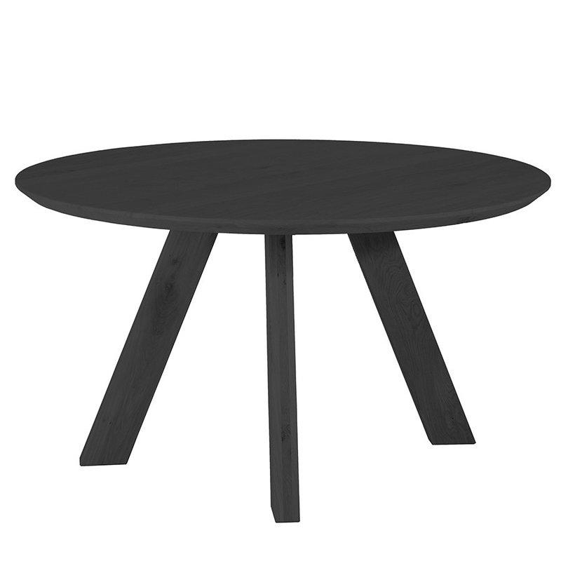 Eleonora Eettafel rond - 140x140 zwart