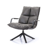 Eleonora Fauteuil Mitchell - antraciet topper