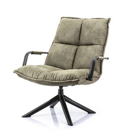 Eleonora Fauteuil Mitchell - groen topper