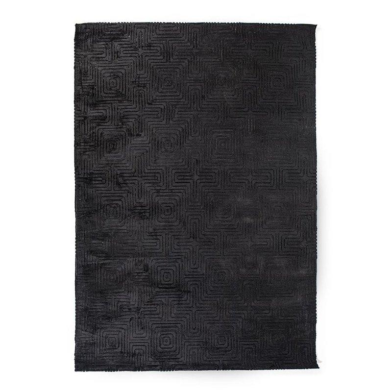 By-Boo Teppich Madam 160x230 cm - schwarz