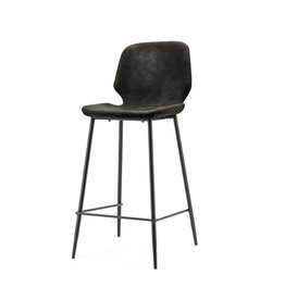 By-Boo Bar chair Seashell high - black