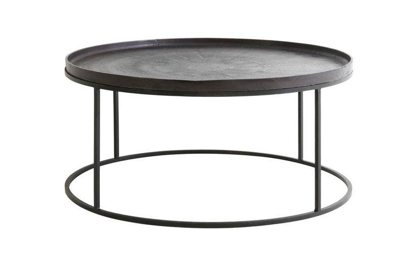 Light&Living Salontafel Ø89x42cm SERENA donker brons+mat zwart