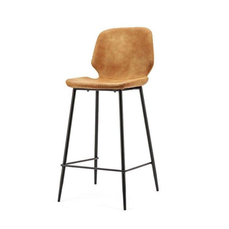 By-Boo Bar chair Seashell high - cognac
