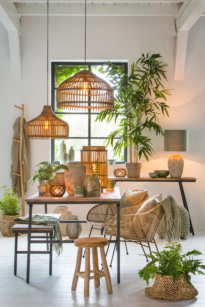 Light&Living Side table 140x30x79cm MACAS verweerd hout-antiek grijs