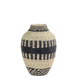 Light&Living Vase deko Ø24x53cm WAIPORI schwarz+naturel