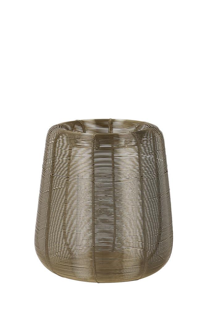 Light&Living Windlicht Ø18x20,5cm ADETA goud+glas