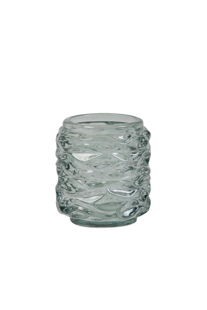 Light&Living Theelicht Ø7x8cm GINGER glas licht groen
