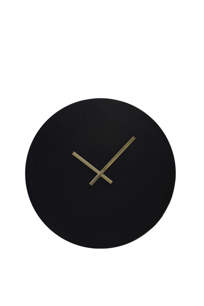 Light&Living Uhr Ø59cm LICOLA antik schwarz