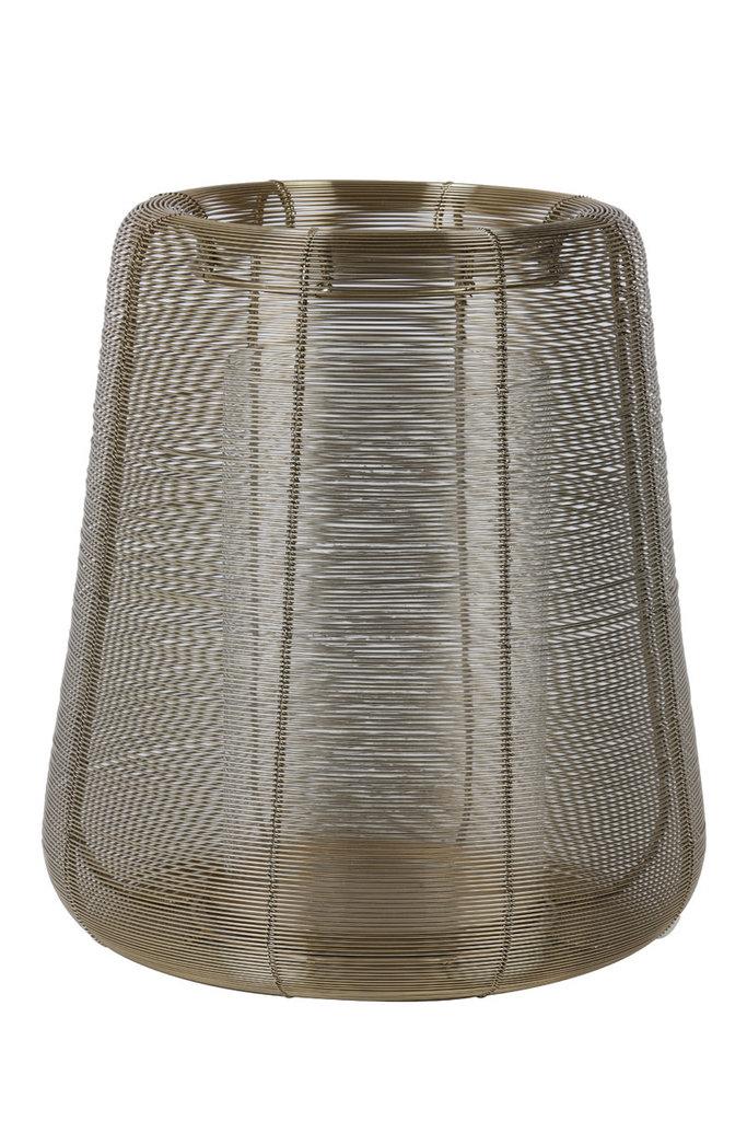 Light&Living Windlicht Ø32x35cm ADETA gold+glas