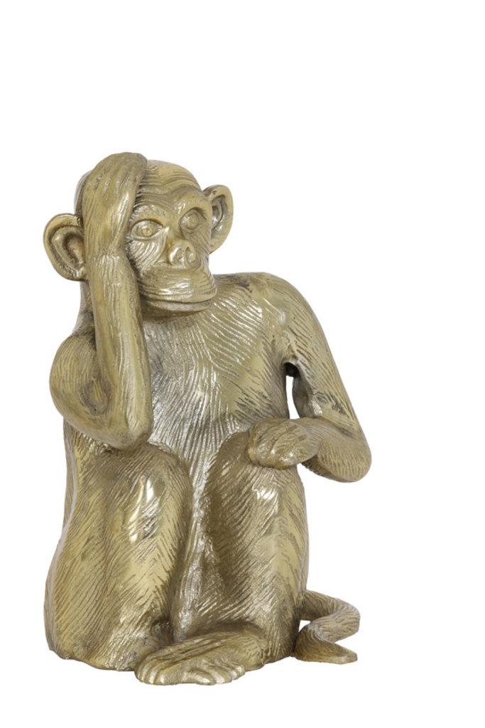 Light&Living Ornament 21x18x27cm MONKEY antik bronze