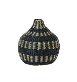 Light&Living Vase deko Ø26x27cm WAIPIA schwarz+natural