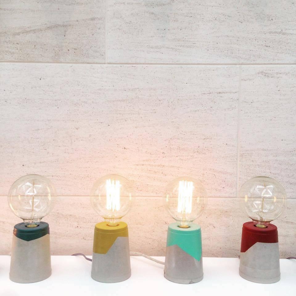 Les Pieds de Biche Lampe  Colore Grand