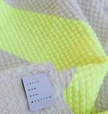 Julie Van Den Meutter Handwoven blanket - Off white met detail fluo geel