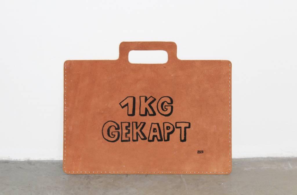 """Atelier Dubbeloo LEATHER BAGS (laptop 15""""+ zeefdruk - gekapt)"""