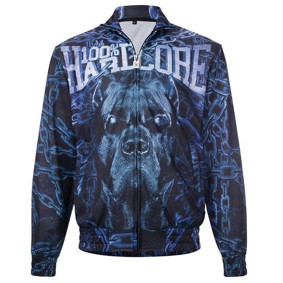 100% Hardcore Training jacket Chained Blue