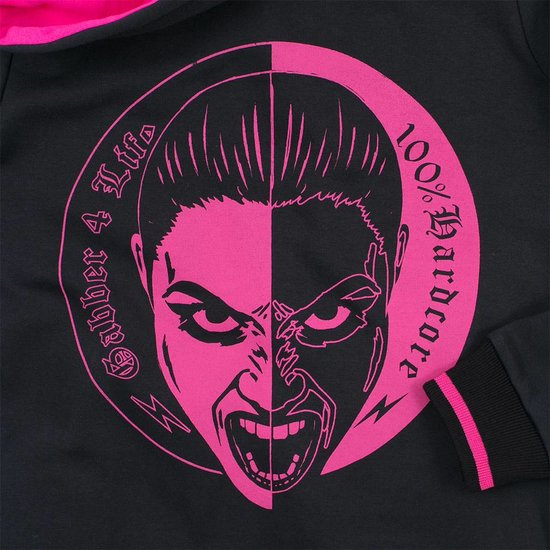 100% Hardcore Lady Hooded Zipper Gabberina 4 Life