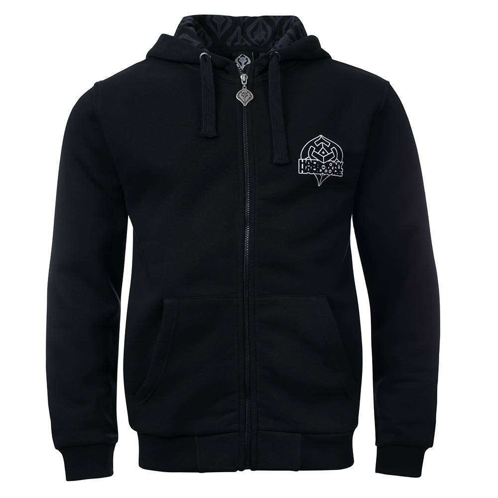 Harmony of Hardcore Hooded Zipper Black