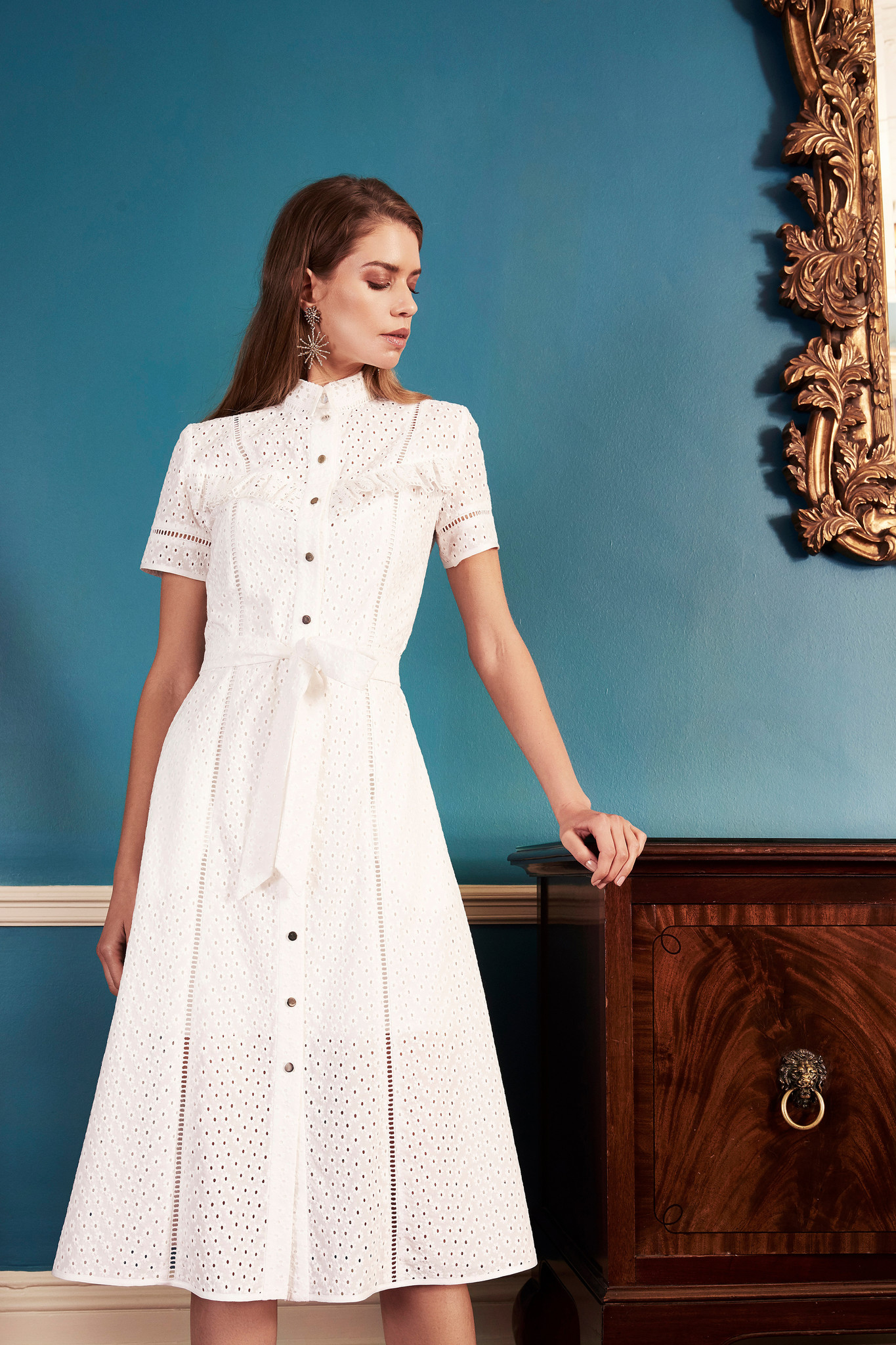 Romina broderie Anglaise cotton dress