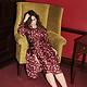 Ashley silk twill dress