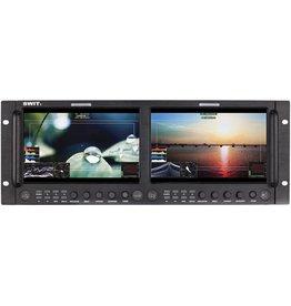 Swit SWIT M-1093F Dual 9-inch Full HD SDI/HDMI Rack LCD Waveform Monitor