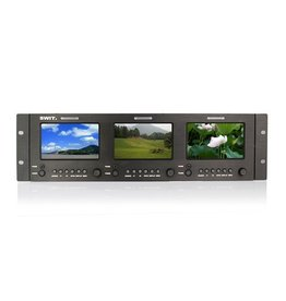 Swit SWIT M-1051H Triple 5-inch SDI/HDMI Rack LCD Monitor