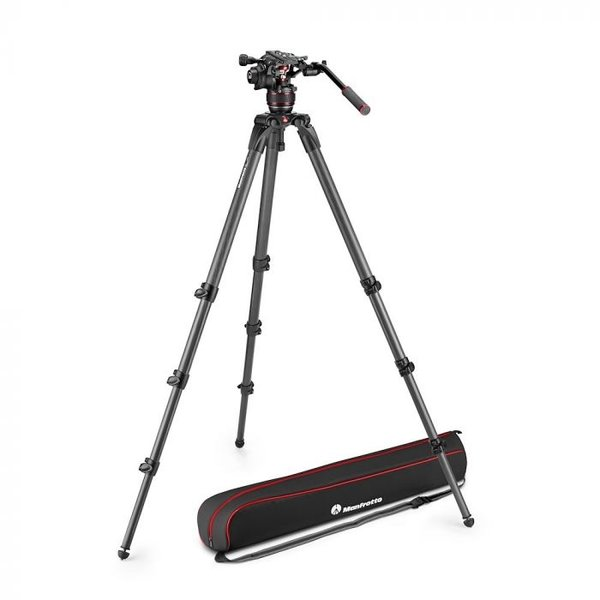 Manfrotto MANFROTTO - Nitrotech 608 video head, CF Tall Single Legs Tripod