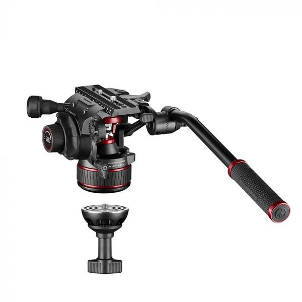 Manfrotto MANFROTTO - Nitrotech 608 video head, alu twin leg tripod ms
