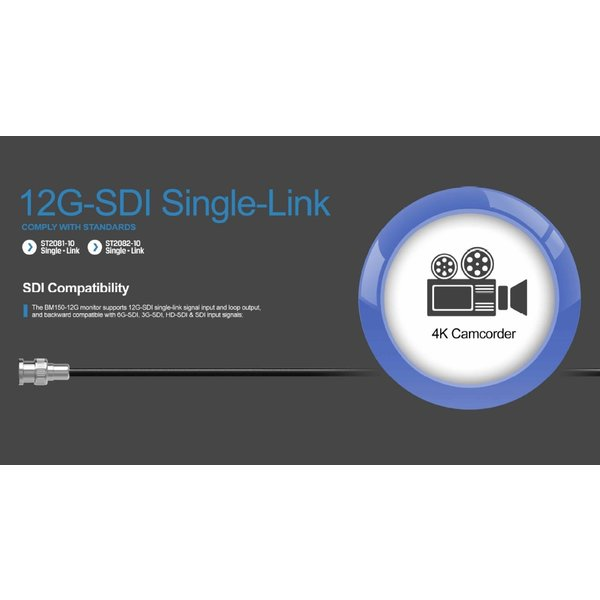Liliput Liliput - Lilliput 15.6 inch 12G-SDI 4K monitor 3840x2160 pixels 50Hz BM150-12G